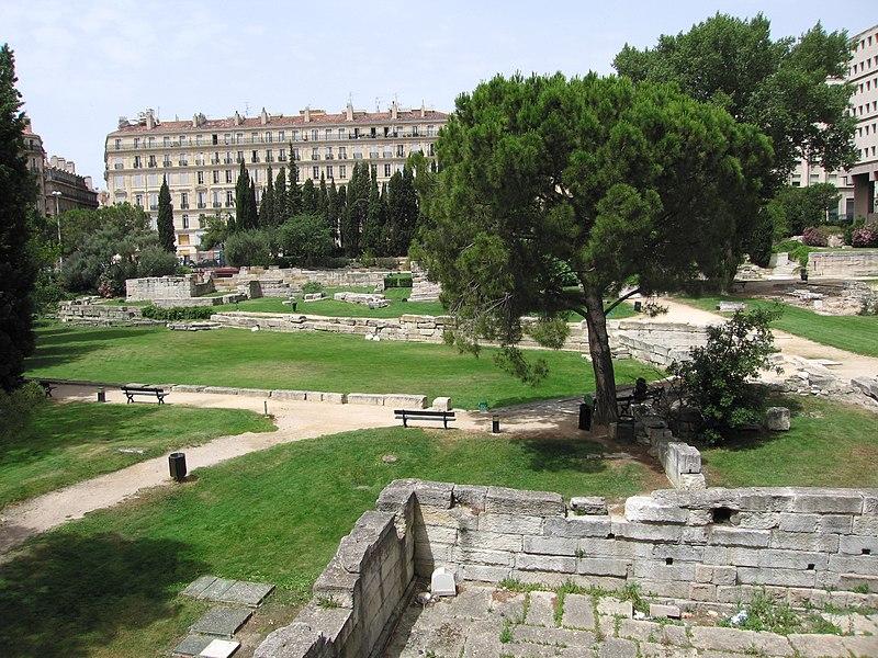 File marseille le jardin des vestiges jpg wikimedia for Restaurant le jardin marseille