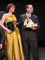 Mary Robinette Kowal and John Scalzi, 2008 Hugo ceremony.jpg