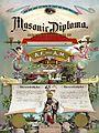 Masonic diploma 1891.jpg