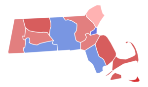 United States Senate election in Massachusetts, 1952 - Image: Massachusetts Senate Election Results by County, 1952