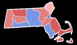 United States Senate election in Massachusetts, 1952 - Image: Massachusetts Senate Election Results by County, 1952