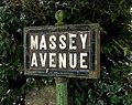 Massey Avenue sign, Belfast - geograph.org.uk - 1654065.jpg