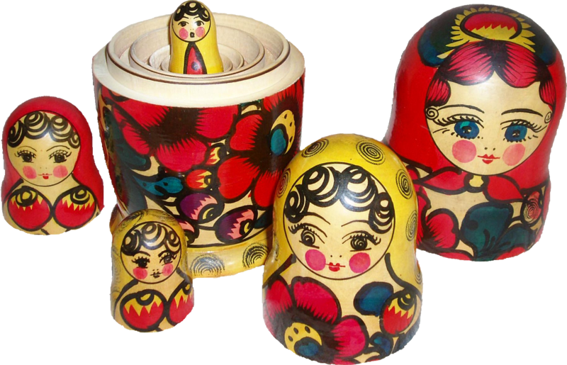 Matryoshka transparent