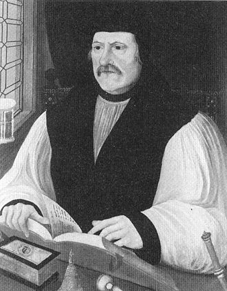 Christopher Holywood - Matthew Parker, whose consecration Holywood claimed was invalid.