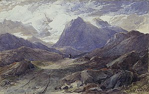 Massacre of Glencoe - Glencoe 1864 by Scottish artist Horatio McCulloch; a wild, remote and empty landscape