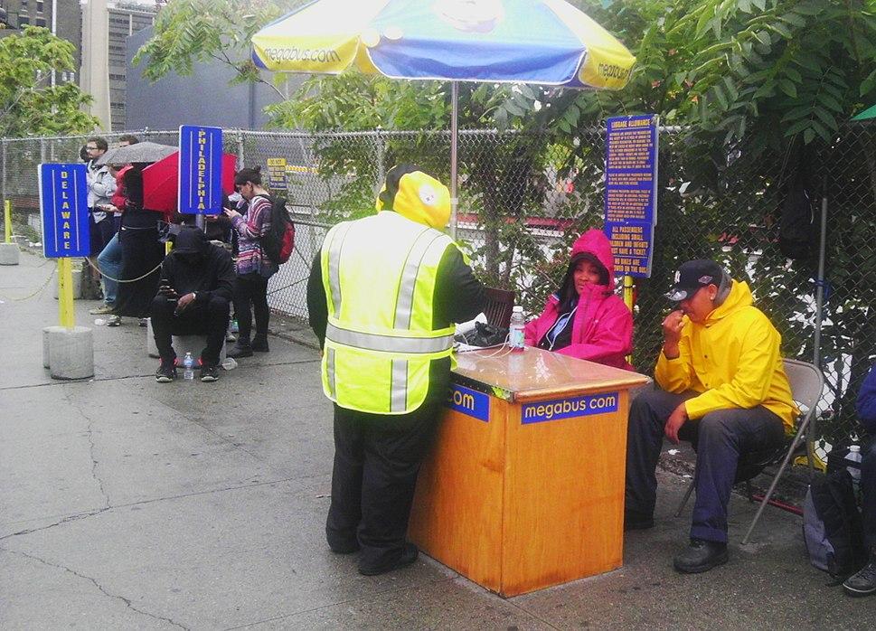 Megabus 34th St rain desk jeh
