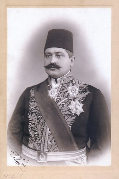 Interior Minister Talaat Pasha, who ordered the arrests of the Armenians during the Armenian genocide. Mehmed talaat pasja.jpg
