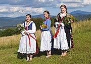 "Members of ""Grojcowianie"" folklore group in Żywiec Beskids clothing 01"