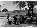 Men near horse and cart - Parliamentary Tour on River Murray(GN13964).jpg