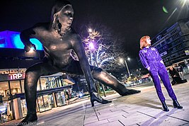 Messenger Statue Reveal - Theatre Royal Plymouth (TRP)..jpg