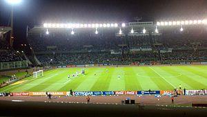 2015 Supercopa Argentina - Image: Messi tiro libre frente a paraguay