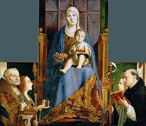 San Cassiano Altarpiece - Image: Messina.Madona 01