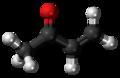 Methyl vinyl ketone molecule ball.png