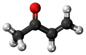 Methyl vinyl ketone - Image: Methyl vinyl ketone molecule ball