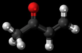 Methyl vinyl ketone - Image: Methyl vinyl ketone molecule ball