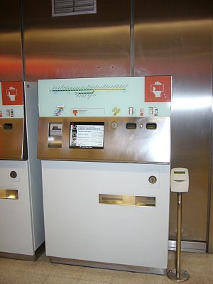 Creditrans - Underground vending machine, where Creditrans can be acquired.