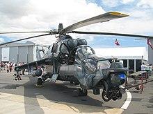 Mi-24 Super Agile Hind on ground 2006.jpg