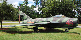 Mikoyan-Gurevich MiG-17 - A North Vietnamese MiG-17 on display at the Mighty Eighth Air Force Museum.