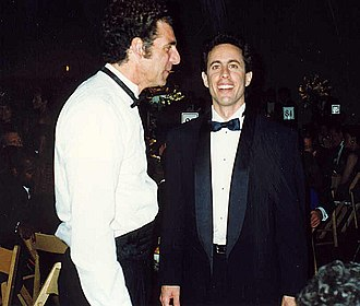 Michael Richards - Richards with Jerry Seinfeld at the 44th Primetime Emmy Awards in 1992