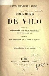 Giambattista Vico: Œuvres choisies de Vico