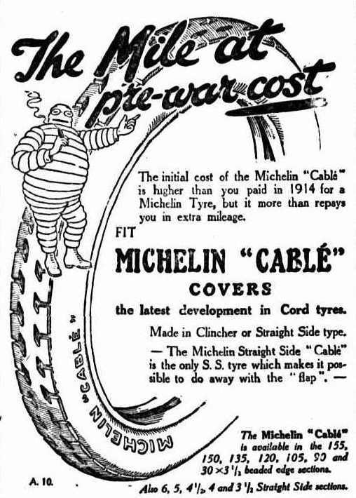 Michelin, advertising, 1922