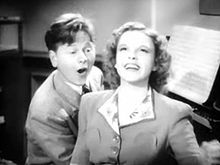 Mickey Rooney and Judy Garland in Babes in Arms trailer.jpg