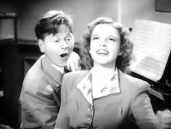 Garland with Mickey Rooney in Babes in Arms (1939).