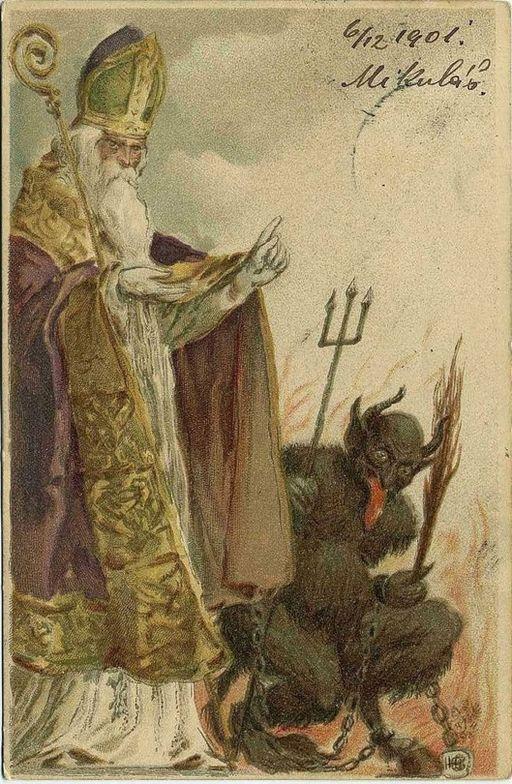 Mikuláš a Krampus 1901