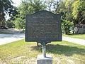 Millers Creek Historical Marker, Jacksonville.JPG