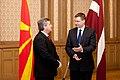 Ministru prezidents Valdis Dombrovskis piedalās pusdienās par godu Bijušās Dienvidslāvijas Republikas Maķedonijas prezidenta Gjorges Ivanova vizītei Latvijā (6972148782).jpg