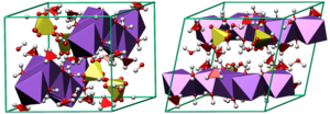 Mirabilite - Crystal structure of mirabilite