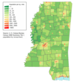 Mississippi population map 2.png