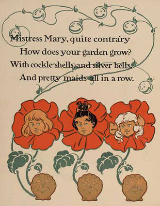 Mary, Mary, Quite Contrary - William Wallace Denslow's rendition of the poem, 1901
