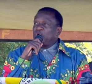 Emmerson Mnangagwa - Mnangagwa Speaking in Headlands in 2015.