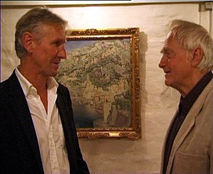 Ib Spang Olsen -  Olsen (right) and Steffen Brandt in 2003.