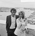 Modesty Blaise film van Amerikaan Joseph Losey. Filmopnamen te Amsterdam. Moni, Bestanddeelnr 917-9567.jpg
