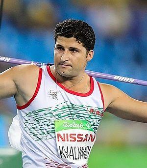 Mohammad Khalvandi - Khalvandi at the 2016 Paralympics Men's F57/58 javelin throw.