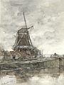 Molen en de brug bij de Noord-West-Buitensingel in Den Haag Rijksmuseum SK-A-3675.jpeg