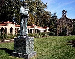 Frederick Charles Shrady - Image: Monastery courtyard, Brookland