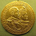 Monogramma R., sigismondo III di polonia e anna, oro, 1598.JPG
