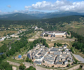 An aerial view of Mont-Louis