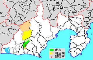 Shūchi District, Shizuoka - Map of Shūchi District in Shizuoka Prefecture