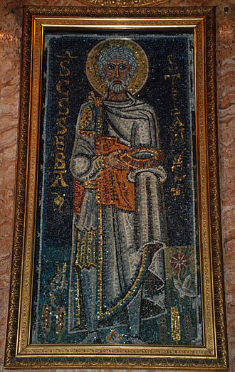 Saint Sebastian - Mosaic in San Pietro in Vincoli, ?682