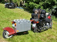 Monowheel Motorcycle Trailer