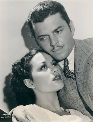 "Movita Castaneda - Movita with John Carroll in ""Wolf Call"" (1939)"