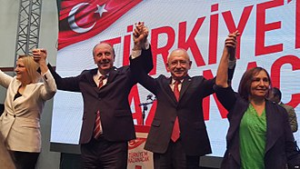 2018 Turkish presidential election - Muharrem İnce being announced as the CHP's presidential candidate on 4 May