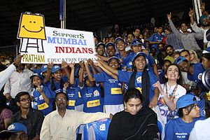 Mumbai Indians - Mumbai Indians invited children of the NGOs to watch matches for free.