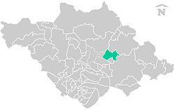 Location of the municipality in Tlaxcala.