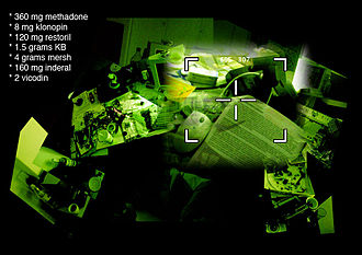 "N3krozoft Ltd - Imagery from the multimedia performance ""LOL"" (2004)"