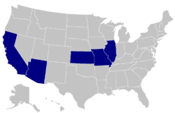 NAIA Ind football only-USA-states.PNG